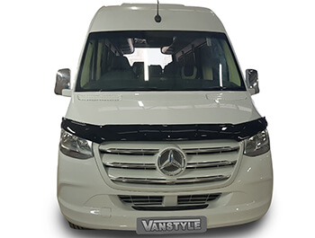 Gloss Black Acrylic Bonnet Deflector - Mercedes Sprinter 2018>