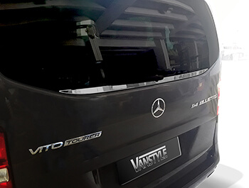 Rear Tailgate Window Trim Stainless Steel - Mercedes Vito 14>