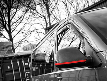 Red Edition 2-Piece Wing Mirror Cover Trim Lines - VW T5/T6