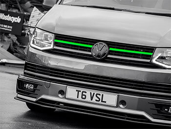 Green Edition 2-Piece Front Grille Upper Trim - VW T6 2015>