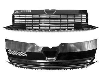 OEM Style ABS Plastic Badgeless Upper Rad. Grille - VW T6 15-19