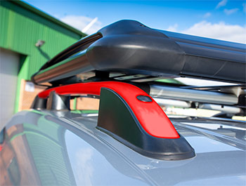 Red Edition Aluminium Styling Roof Rail Bars - VW Caddy Mk3/Mk4