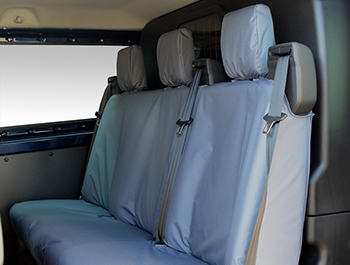 100% Waterproof Grey Front & Rear Seat Cover Set - Custom 12>