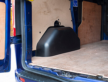 Black ABS Inner Wheel Arch Covers - Ford Transit Custom