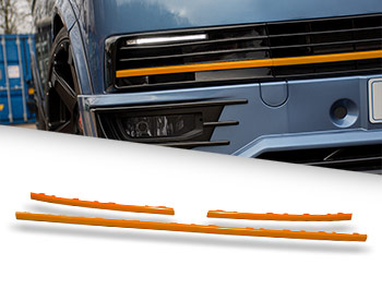 Gloss Orange ABS Lower Grille Trim Insert Set - VW T6 15-19
