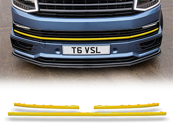 Gloss Yellow ABS Lower Grille Trim Insert Set - VW T6 15>19