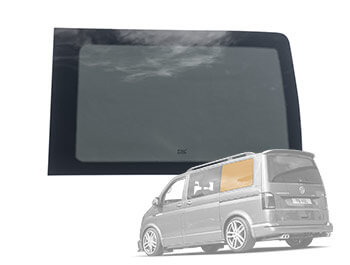 NSR Passenger Side Rear Quarter Window Glass Pane - VW T5 T6 SWB