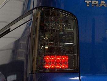 LED Smoked Rear Lights - VW T5 03>09 Twin Door Models Only