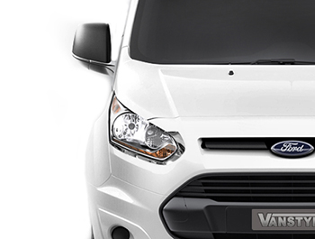 Stainless Steel Headlight Sill Trim - Ford Transit Courier 14>