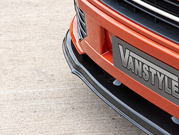 VW T5 10-15 Extra Low Black Front Splitter for Sportline Models