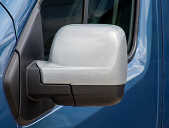 Silver ABS Mirror Covers - Vivaro Trafic NV300 Talento