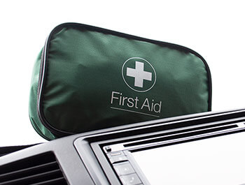 Compact Soft Pouch Automotive Travel First Aid Kit - 60 Piece