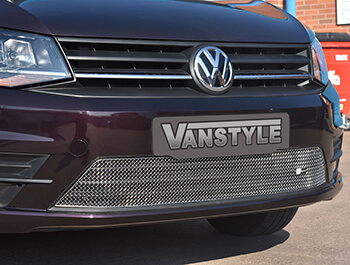 Mesh Lower Grille Polished/Black - VW Caddy 15> With Fog Lights