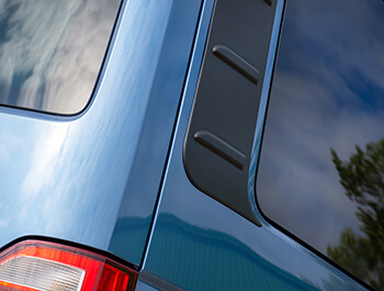 ABS Textured Black Outer Rear Side Panels - VW T5 & T6