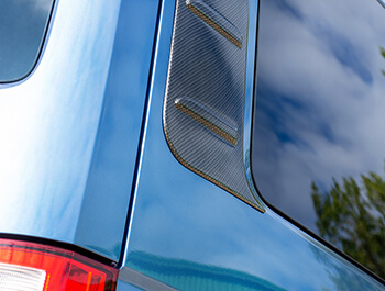 ABS Carbon Effect Outer Rear Side Panels - VW T5 & T6