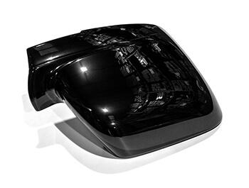 Gloss Black ABS Mirror Covers - Vivaro Trafic NV300 Talento
