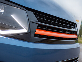 Gloss Black With Orange Band ABS Badgeless Grille - VW T6 15>19