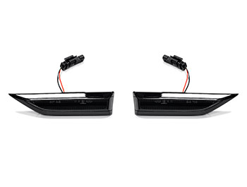 Gloss Black Smoked Lens LED Side Repeater Set - VW Caddy Mk4