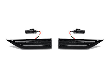 Gloss Black Smoked Lens LED Side Repeater Set - VW T6 15-19