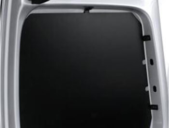 Black Metal Security Rear Window Guard Covers - VW Caddy 04>