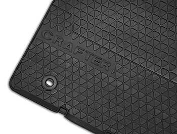 Genuine VW OE Front Heavy Duty Rubber Mats - VW Crafter 06>16