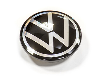 Genuine VW New Logo Dynamic (Self Levelling) Hub/Centre Caps