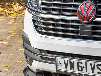 Polished Stainless Steel Front U Formed Grille Trim - VW T6.1