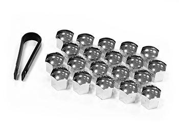 Chrome 19MM Hex Push-On Nut & Bolt Head Covers