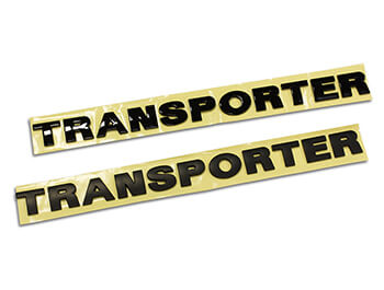 Transporter Rear Lettering Boot Badge Gloss Black & Matt Black
