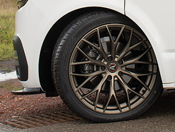 "Wolfrace Wolfsburg Matte Bronze 20"" Wheel Set - VW T5 T6 03>"
