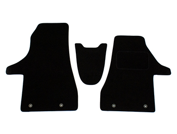 Black Fabric RHD Front Cab Carpet Mats - Quality - VW T6.1 2019>