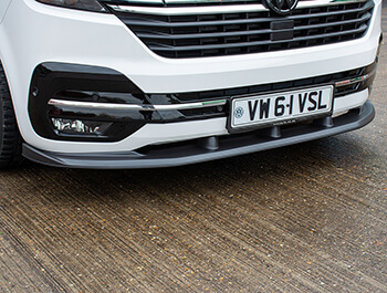 Front Bumper Black ABS Lip Splitter - VW T6.1 19>