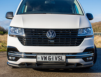 Full Front Gloss Black Badged Grille - VW T6.1 19>