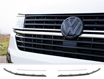 Front Radiator Grille 2pcs Lower Trims - Chrome Ed. - VW T6.1