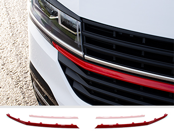 Front Radiator Grille 2pcs Lower Trims - Red Ed. - VW T6.1
