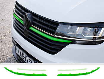 Front Radiator Grille 2pcs Lower Trims - Green Ed. - VW T6.1