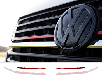 Front Radiator Grille 2pcs Upper Trim - Red Ed. - VW T6.1
