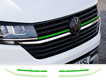 Front Radiator Grille 2pcs Upper Trim - Green Ed. - VW T6.1