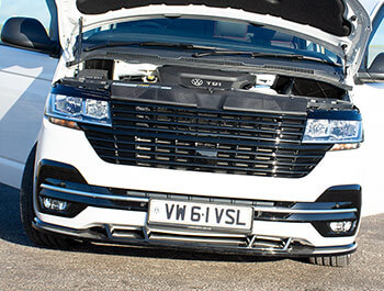 Full Front Gloss Black Badgeless Grille - VW T6.1 19>