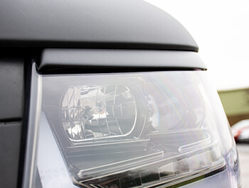ABS Front Headlight Brows in Textured Black - VW T5.1 10-15