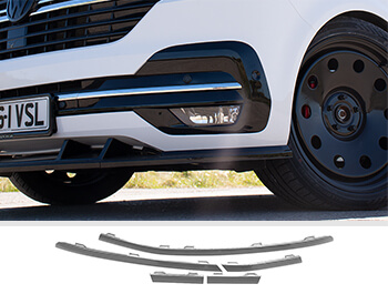 Lower Front Bumper Grille 5pcs Trims - Chrome Ed. - VW T6.1