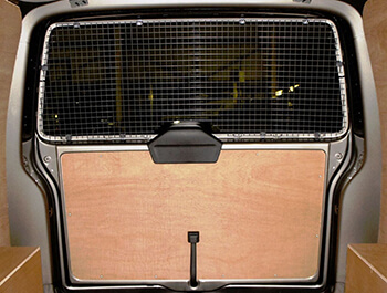 Steel Mesh Security Rear Window Grille - VW T6 15>