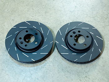EBC Ultimax Front Brake Discs - 340mm Grooved - VW T5 T6