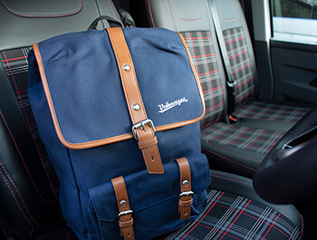 Genuine VW Beetle Collection Back Pack Ruck Sack Dark Blue