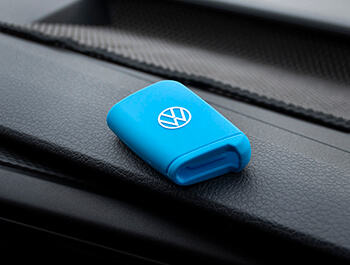 Genuine VW Light Blue Silicon Key Fob Cover - VW T6.1 19>
