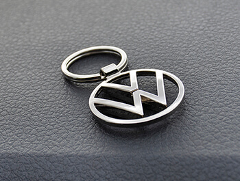 Genuine VW Polished Metal Key Ring