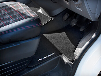 Genuine VW Transporter Embroidered front carpet mat - T6.1 19>