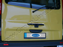 Stainless Steel Tailgate Handle Cover, Renault Trafic 2010>
