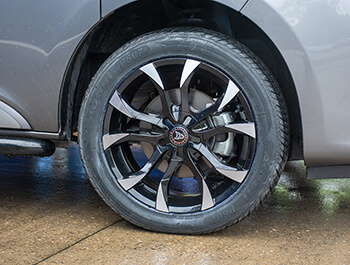 "Wolfrace Assassin 18"" Black & Polished Alloy Wheels & Tyres"