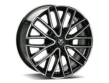 "Wolfrace GTR 20"" Black & Polished Transit Custom Alloy Wheels"